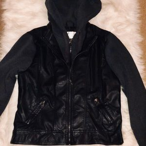 White fox, Tillys pleather jacket